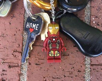 Marvel Avengers Iron Man Mini-Figure Key Chain With Custom Gift Box