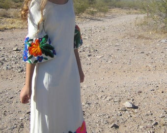 Vintage 60s 'El Estudio' Mexican Hand Embroidered Dress