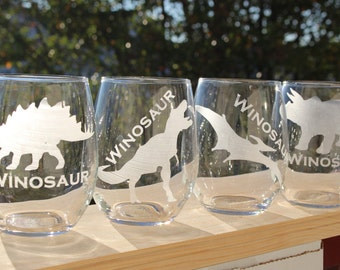 Winosaur Wine Glasses