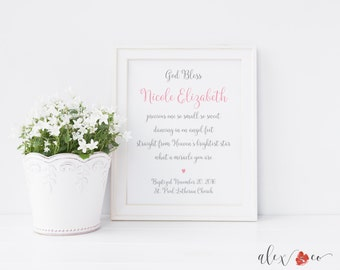Personalized Baptism Gift. Baptism Printable. Baby Dedication Gift. Baptism Print. Baptism Gift Girl. Baby Girl Gift. Blessing Printable.