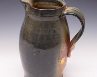 Wood Fired Porcelain Blend Pitcher - Shino Liner Glaze, 0514004