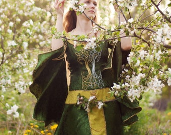 Queen of Woods fantasy dress, made to order