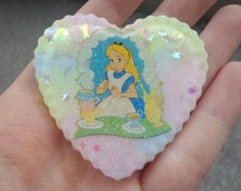 SALE! Alice pastel pin brooch