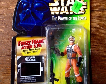 1997 Biggs Darklighter, Star Wars, Power of the Force Action Figure. Carded and Factory Sealed. Kenner (Hasbro Inc).
