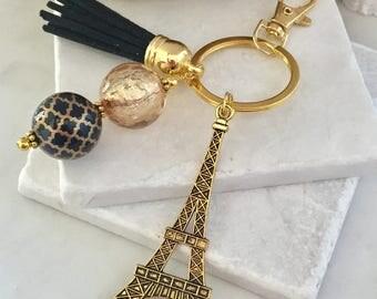 Eiffel Tower Key Chain/Gold Eiffel Tower/Paris Key Chain/France Key Chain/Parisian Key Chain/Paris Lover Key Chain