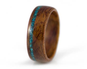 Mens wood ring Etsy