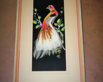 Feather Art Bird Framed Art - Pheasant Feather Art
