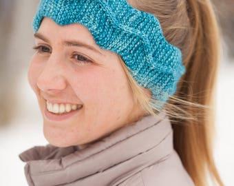 Knitted Headband Pattern PDF, Headband Knitting Pattern, Easy Cable Knit Headband Pattern, Cable Knit Headband, Winding Trail Headband