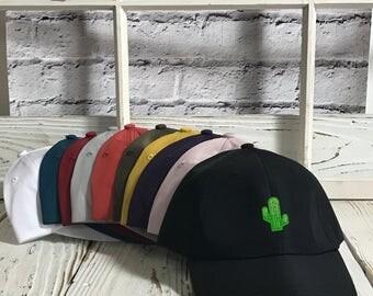 CACTUS Patch Satin Dad Hat | Cactus Patch | Cactus Lover Hat | Cactus Embroidered Baseball Hat | Cactus Baseball Hat Dad Cap Trend | Black