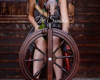 Kromski Sonata Spinning Wheel *Free Shipping USA, Reduced Shipping Canada*Free Bag *Free Extras* Castle Style