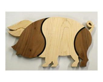 Wood Pig Cheese Board - Cutting Board