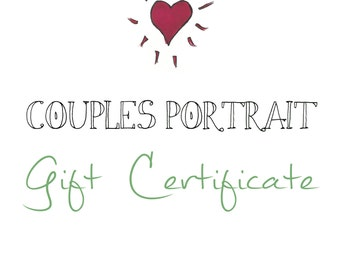 Simple Couples Portrait Gift Certificate