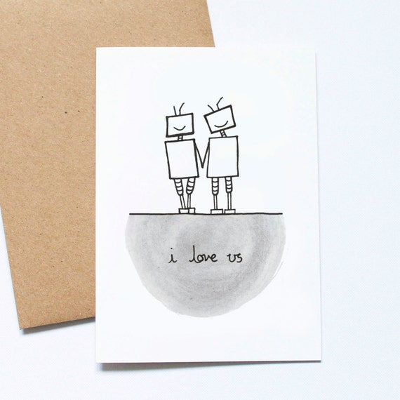 I Love Us - Robots Valentine's Day Card