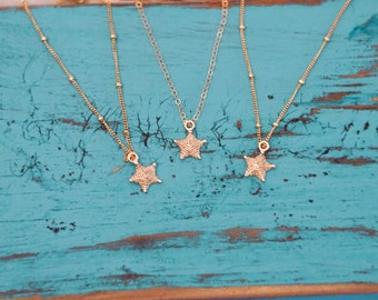 14K Yellow Gold Sea Star Necklace