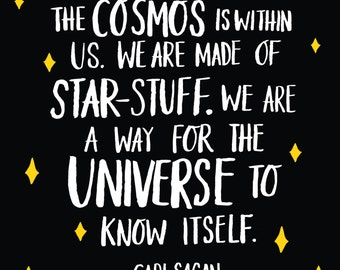 Carl Sagan Illustrated quote