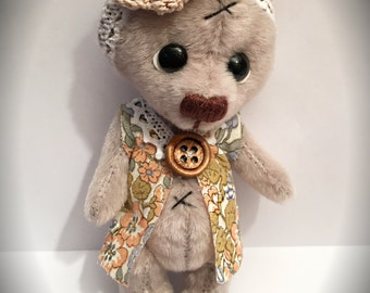 "Lyra -5.5"" miniature Bear - OOAK artist bear by Devine Bears"