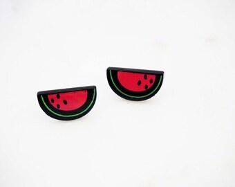 Watermelon Post Stud Earrings