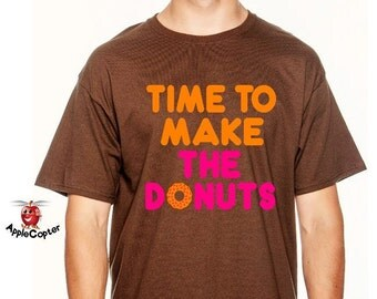 Time To Make The Donuts Shirt, Vintage Dunkin Donuts Shirt, Old School Donut Shirt, Funny Donut Shirt, Mens Donut Shirt, AppleCopter