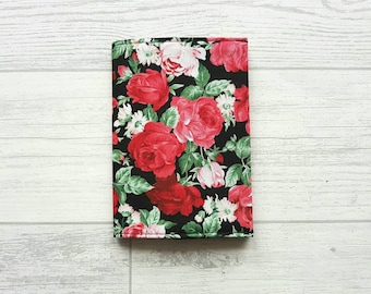 Rose Fabric Passport Cover, Floral Passport Holder, Travel Accessories, Travel Wallet, Gifts For Her, Teacher Gifts, Floral Print Fabric