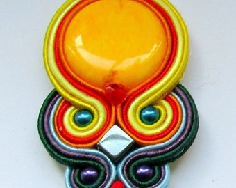 Pendant soutache Rainbow