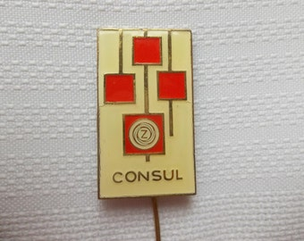 CONSUL Typewriter pin. CONSUL Zeta typewriter pin, vintage typewriter pin maker,