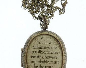Sherlock Holmes Locket & Gift Box, Necklace Jewellery