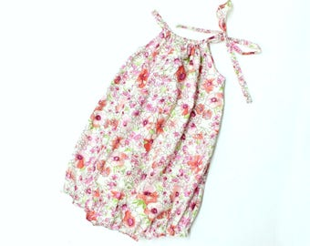 Baby Bubble Romper - watercolour blooms