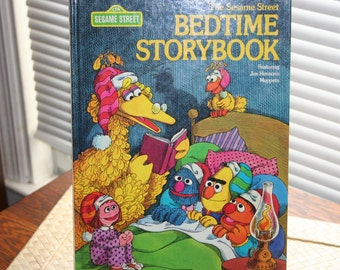 The Sesame Street Bedtime Story Book Featuring Jim Henson's  Muppets , Hardback ,  1978