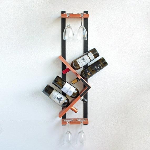 Wine Rack, Wall Mounted Wine Rack, Wood Wine Rack, Vertical Wine Rack