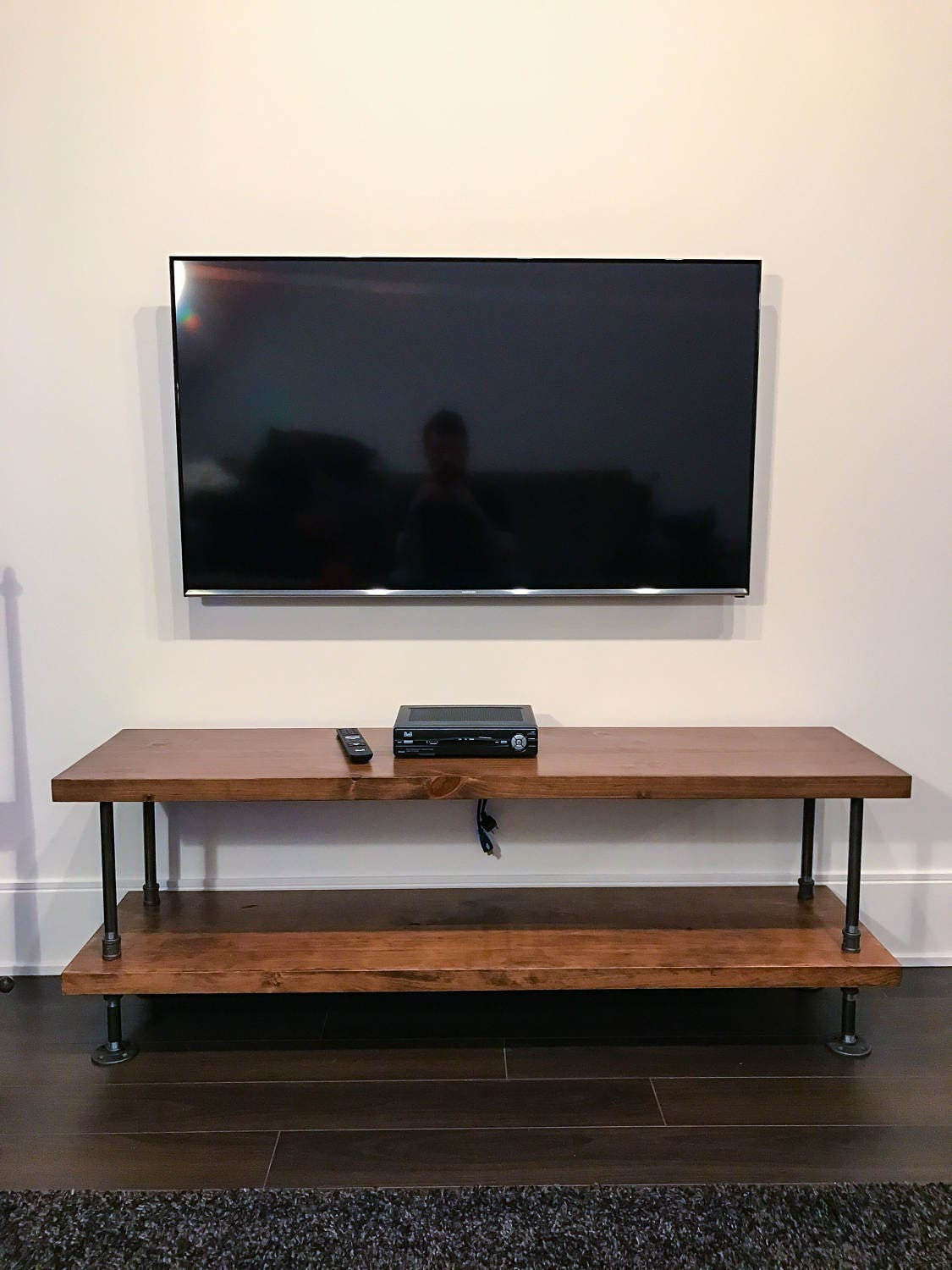 rustic industrial tv stand rustic industrial coffee table. Black Bedroom Furniture Sets. Home Design Ideas