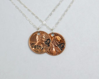 Leo Necklace, Leo Pendant, Birthday Necklace, Birthday Necklace, Leo Birthday, Lucky Penny, Penny Necklace, Birthday Gift, Leo