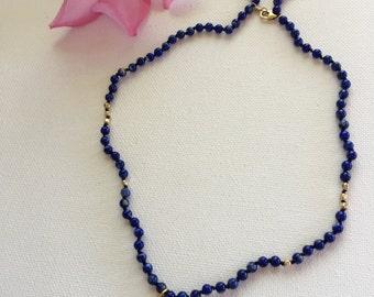 Lily Lapis Lazuli Choker