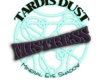 TARDIS Staub * geliebte * - Arzt, loser Mineral Lidschatten - Missy Tiefe Smokey inspiriert, Pflaume