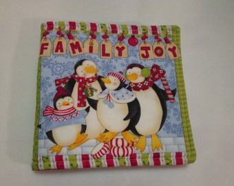 Family Joy A Children's Soft Cloth Book Childs Christmas Story Book Free Shipping