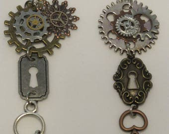 Key Steampunk Earrings