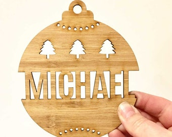 Christmas Decoration - Personalised Custom Christmas Bauble (DEC1608) MADE IN Australia