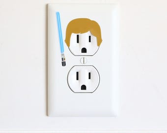 Luke Skywalker - Star Wars - Electric Outlet Wall Art Sticker Decal