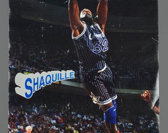 1990s Shaquille O'Neal Shaq NBA Poster Orlando Magic 23 x 35