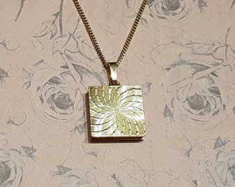 Vintage Gold Locket Square Gold Plated