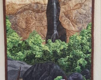 Art Landscape Quilt: Treasure Falls, Colorado