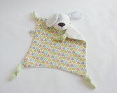 Safety blanket toy, Soft baby dog, Baby snuggly dog, Snuggly toy, Baby comforter, Plush animal toy, Baby shower gift, Plush dog, White grey