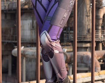 NEW! TAFI Widowmaker Overwatch Leggings - Blizzard Sci-Fi Video Game-inspired Body Armor Costume Yoga Pants 2017 CosPlay Designer Print