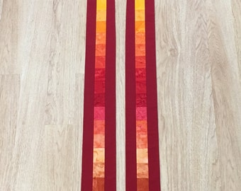 Red Clergy Stole for Pentecost, Reformation or Ordination Gift