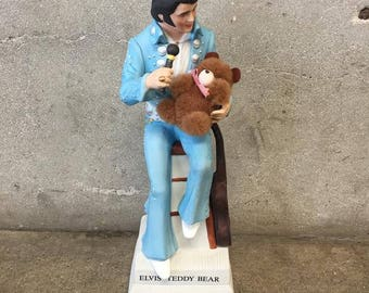 Elvis Teddy Bear Decanter RARE (YA3JEL)