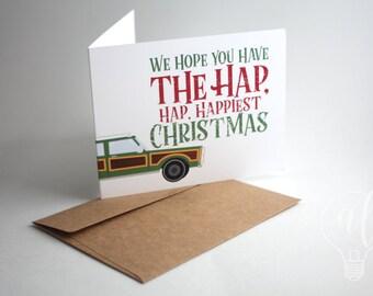 Hap Hap Happiest - Christmas Vacation - Christmas Card - National Lampoons - Funny Christmas Card - Griswolds Christmas - box set of 10