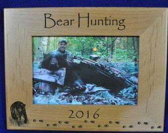 hunting frames bear hunting frame hunting gift gift for hunter hunting picture frame bear hunter gift bear hunting bear frame