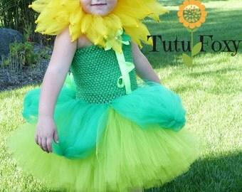 Flower Costume, Flower Tutu Dress, Flower Tutu, Halloween Tutu Dress, Halloween Costume Girls, Halloween Tutu, Flower Headpiece