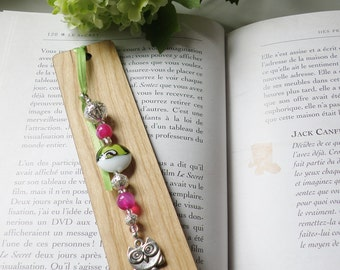 Wooden bookmarks small owl, bookmark, gift, books, made in québec, handmade,
