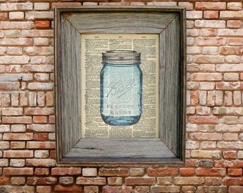 Mason Jar Dictionary Art Print. Available in: 8 x 10, 6 x 9 & 5 x 7