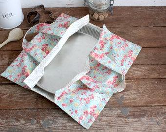 Pie - fabric Liberty tatum turquoise - wool flower bag